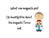 "What can a magnet do?  ""Pull"" Recording Sheet"