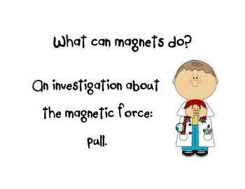 """What can a magnet do?  """"Pull"""" Recording Sheet"""