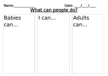 What can people do? Worksheet