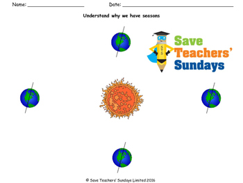 What Causes the Seasons Lesson Plan, Instructions and Worksheet
