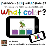 What color is it? ⋅ Interactive PDF, Boom Cards, and Quiz