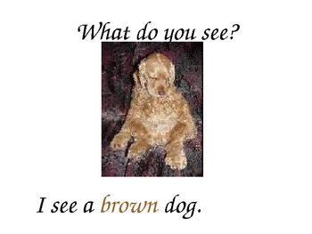What colors do you see? English for Young Learners
