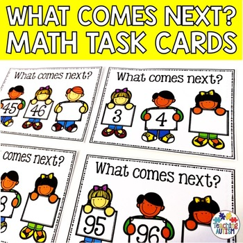 What comes next? 0 - 100 task cards, counting.
