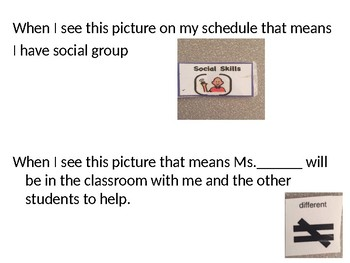 Social Story What days/times do I go to social group