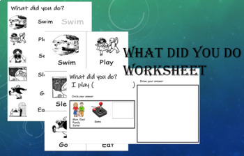 What did you do conversation worksheet