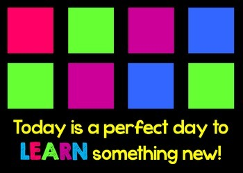 What did you learn today?