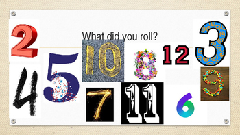 What did you roll?  A getting to know you activity.