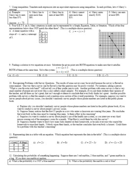 What do Algebra and Geometry Students Struggle With Sample Questions (Editable)