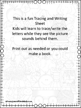 What do I see Alphabet Trace and Write sheets set 2