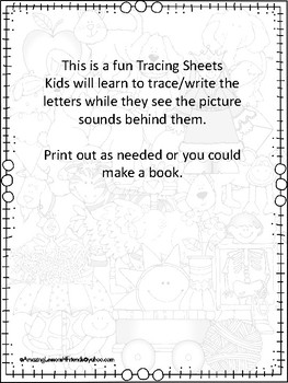 What do I see Tracing Alphabet Tracing Sheets