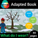 What do I wear? ADAPTED BOOK including matching activity a