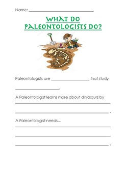 What do Paleontologists do?