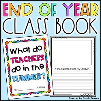 What do Teachers do in the Summer? {class book!}