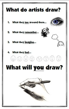 What do artists draw?