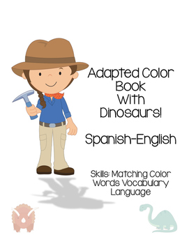 What do dinosaurs eat? Color Words Bilingual