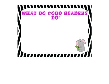 What do good readers do?