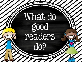 What do good readers do?  Set of classroom posters