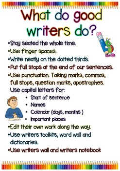 What do good writers do? Bright visual