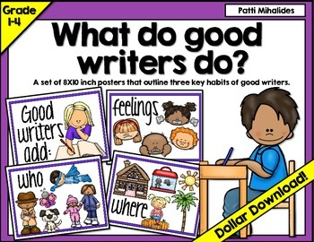 What do good writers do? Classroom display/bulletin board set