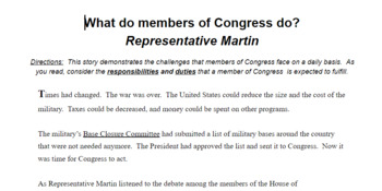 What do members of Congress do?