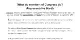 What do members of Congress do?