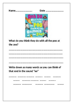 What do they do with all the poo Worksheet