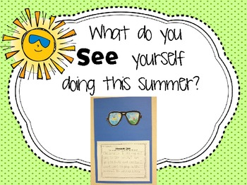 What do you SEE? {Summer writing activity}