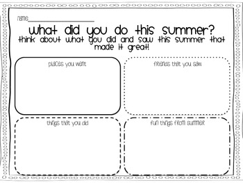 What did you see this summer? {A writing craftivity}