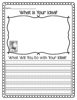 What do you do with an Idea? Drawing & Writing Activity | TpT