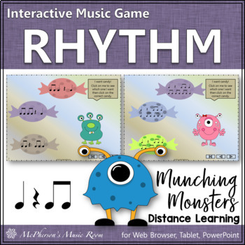 Rhythm Game: Eighth Notes Interactive Music Game {Munching Monsters}