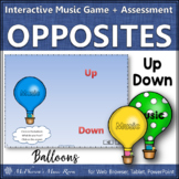 Up Down Melodic Direction Interactive Game + Assessment {balloons}