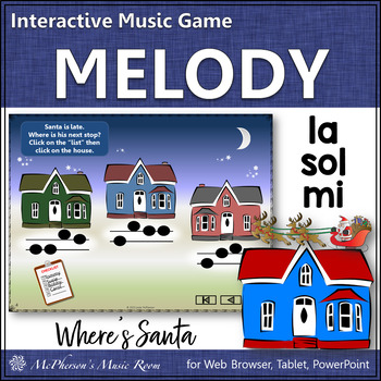 Christmas Music: Sol-Mi-La Interactive Melody Game {Where's Santa?}