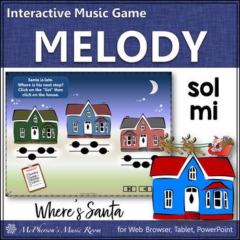 Sol-Mi Where's Santa? Interactive Melody Game