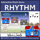 Christmas Music: Eighth Notes Interactive Rhythm Game {Where's Santa?}