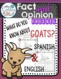 What do you know about goats??? Fact and Opinion Freebie