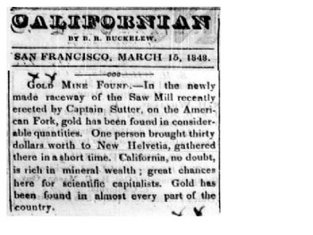 What do you know about the Gold Rush of 1849 Activity
