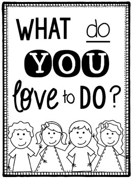 What do you love to do? Class Book