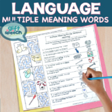 Multiple Meaning Words & Speech Therapy