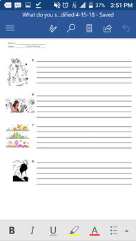What do you see? ESL reading, writing, and speaking activity with pictures