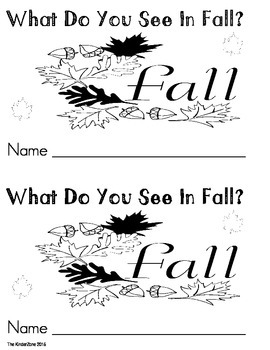What do you see in fall?! Emergent Printable Reader Book