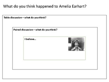 What do you think happened to Amelia Earhart Discussion Activity Template