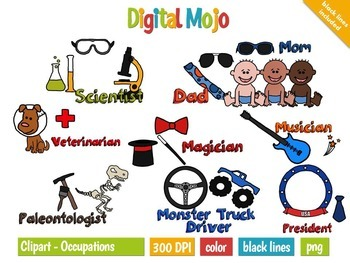 What do you want to be when you grow up? Clip art Occupations Bundle