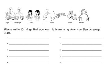 What do you want to learn in sign language class?