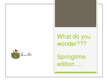 What do you wonder??? Spring Time