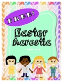 Free Easter Acrostic