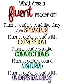 What does a fluent reader do? POSTER