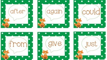 What does a fox say? A Sight Word Game
