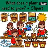 What does a plant need to grow? - Clipart