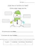 What does a snowman wear? Cut and paste- Ropa y hombre de nieve
