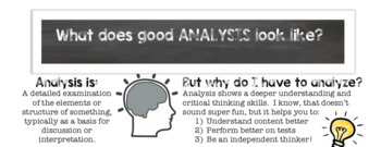 What does good analysis look like?